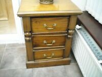 barker and stonehouse bedside cabinets 3 drawer