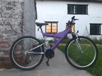 "*PRICE DROP* Full suspension mountain bike - purple, 26"", 18 gears, size small"