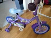 Girls tinkerbell fairies bike