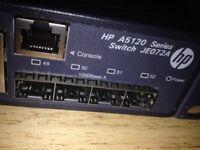 2 x HP JE072A HP 5120-48G SI Switch 48 x 10/100/1000 + 4 x SFP