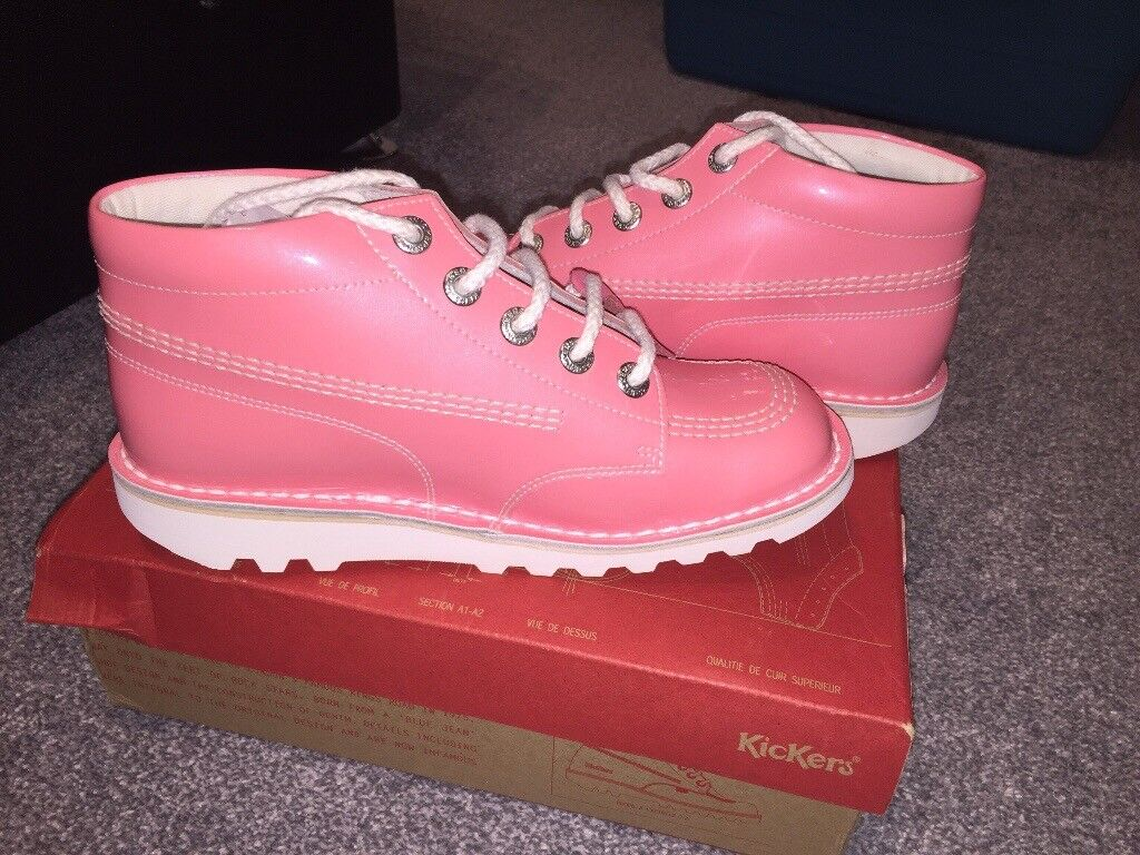 ladies pink kickers, size 6, £30, never been worn.