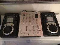 CD DJ Package. Numark Axis 9's and Vestax PCV 275 mixer