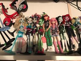 Large selection of monster high dolls some rare all mint ex display