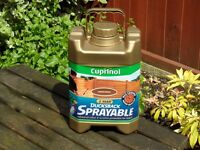 Cuprinol Ducksback Sprayable Paint, Fence/Wood Protection Autumn Brown 5L Unopened