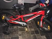Specialised hotrock red and black bike
