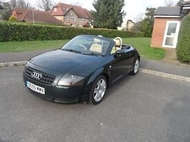 Audi TT Convertible 1.8 150bhp model, 2006 ,very dark metalic green/tan leather