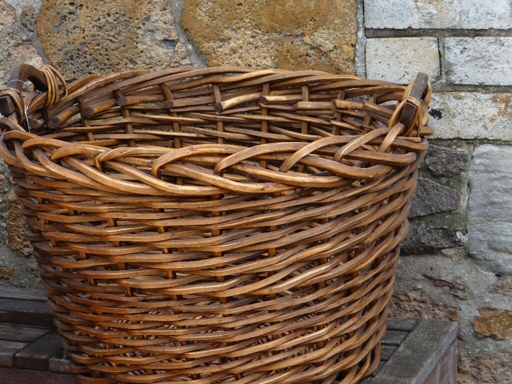 Extra Large Willow Basket - New