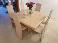 Solid Italian Marble Dining Room Table - Excellent condition - £250