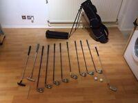 Callaway BIG BERTHA set of golf irons 4 5 6 7 8 9 10 L & W and bag set, Plus extra
