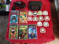 SONY PSP KIDS BUNDLE WITH CHARGER. CASE, 6 fILMS AND 10 GAMES, VERY GOOD CONDITION