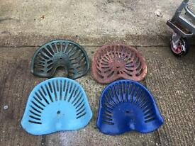 4 vintage tractor seats. Ideal for converting into bar stools