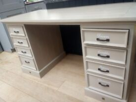 Compact office home desk oak effect good condition in fulham