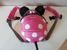 Disney Pink Minnie Mouse Toddler Backpack with Rein - LittleLife