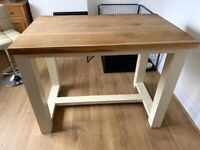 Solid oak bar table