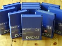 Sony DVCam 124n Video tapes - pack of 10 - Bulk erased