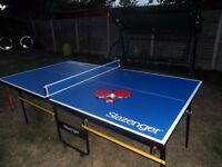 Complete Slazenger table tennis, foldable, with bats, ball and net…