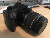 Canon EOS 1000D with 18-55 lens and new battery