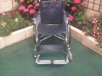 chrome self-propelling wheelchair