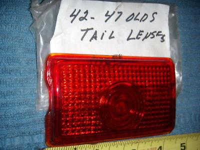 NEW VTG. RED 1942-47 OLDS TAIL LIGHT GLASS LENS
