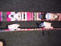 Rossignol Trixie twin tip ski's 150cm & Bindings