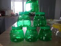 Plastic sweet /jars.