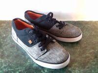 DC Boys Tonik TX SE Skate Shoes, Black Grey RRP £28