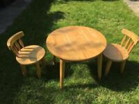 Child size table and two chairs North London