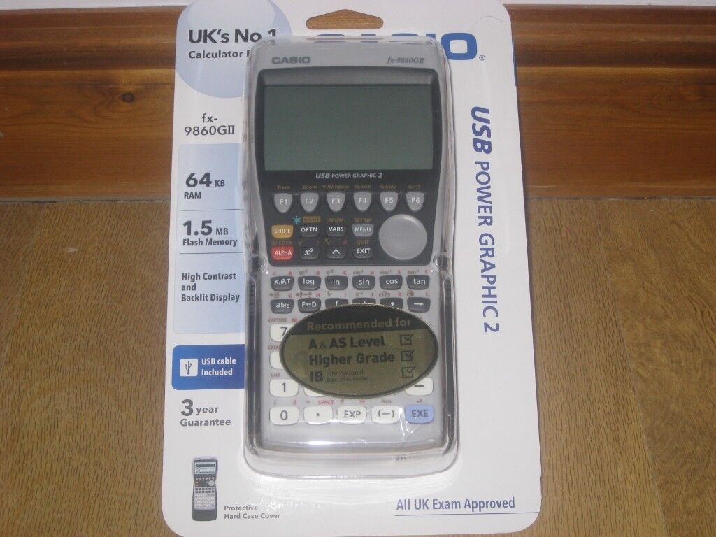 Casio FX 9860GII Advanced Graphic Calculator A Level Maths Not Fx 9750GII