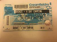 4 day Creamfields Bronze Camping Ticket
