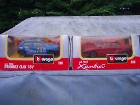 Boxed model cars/vans