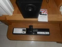 Orbit soundbar with powerful subwoofer for sale in as new condition