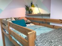 Solid pine 3ft single cabin bed