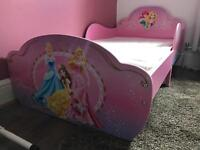Toddler bed - brand new already built - princess bed girls