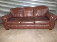 Brown Leather 3+2-seater Suite