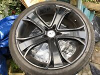 22 inch alloy wheels and tyres used
