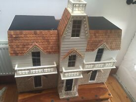 Victorian hand made dolls house porthcawl collection