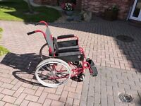 Self Propelled Folding Lightweight Transit Wheelchair Footrest