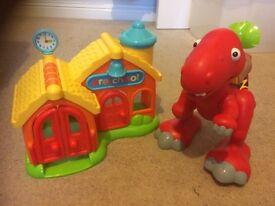 Happyland preschool,dinosaur & cottage