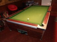 """""""NOW HALF PRICE""""SLATE BED POOL TABLE 7FT X 4FT OLD 10p COIN OPERATED OR FREE PLAY"""