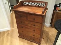 Gorgeous Indian Sheesham Tall Chest of Drawers - Very Solid/Heavy - Excellent Condition