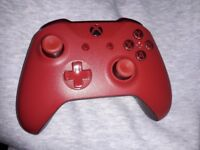 Xbox One Wireless Controller in Red.