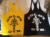 Golds Gym Vests and Striped Vests bundle