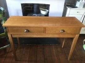 Wooden console table / hall table
