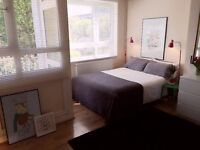 Huge Size Double Room at Heart of Hackney, with Balcony, Sofa and Dining Table