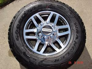 "2017 Ford F-350 / F-250 Alum. OEM 18""x 8 bolt x 12 spoke rims / Goodyear Wrangler tires"