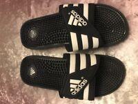 Men's Velcro Adidas Flip Flops Size 10