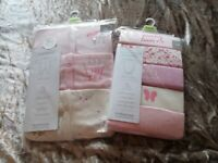 NEW Mothercare 12-18 months 3 pack sleepsuits and 5 pack vests.