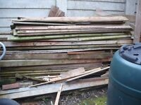 Free wood from an old shed.