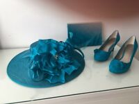 Mother of the bride hat shoes and bag all Jacques vert in pristine condition shoes are a 39