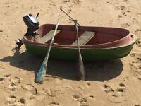 Evinrude 3hp + Dabbler double skin boat